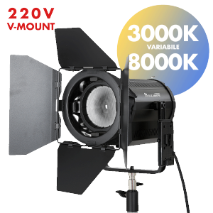 fari led fresnel per video e fotografia