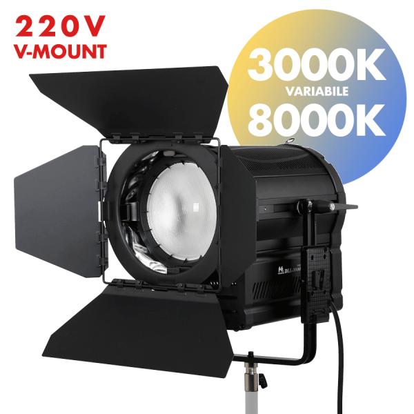fari led fresnel 300W per video e fotografia